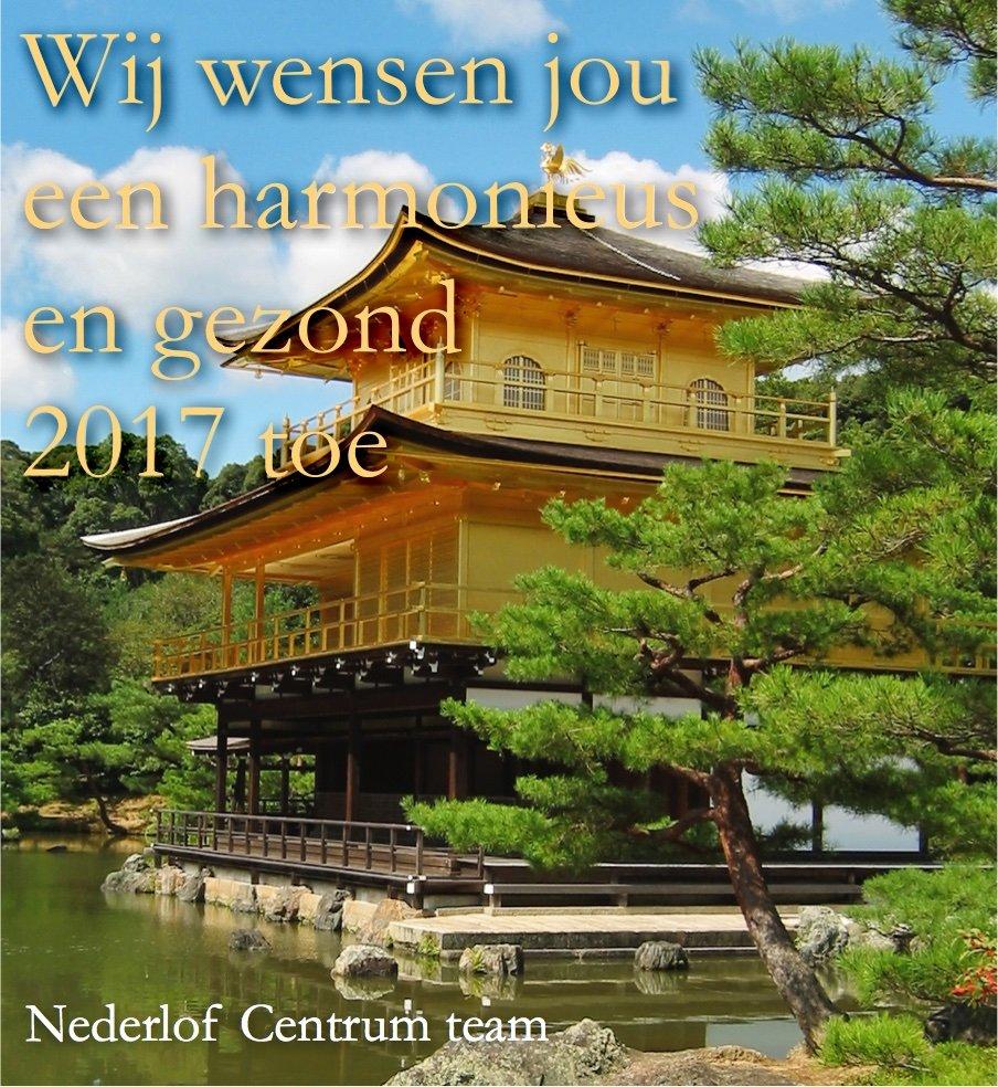 Nederlof Centrum voort Reiki, Aurahealing en Meditatie wenst jou een gelukkig en harmonieus 2017