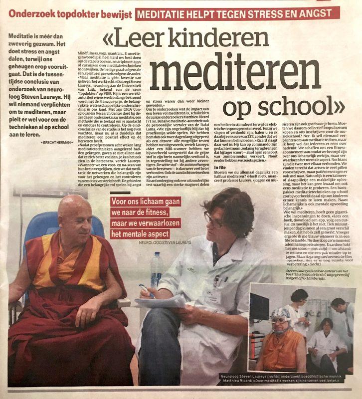 Meditatie artikel het Laatste Nieuws