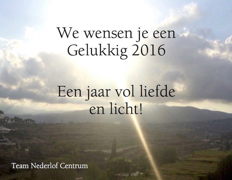 Gelukkig 2016 namens het Nederlof Centrum team